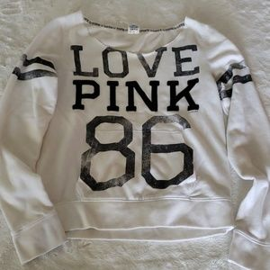 "PINK ""cutoff"" sweatshirt"